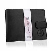 Чоловічий шкіряний гаманець Betlewski з RFID 9,5 х 12,5 х 2,5 (BPM-HT-60) - чорний, фото 1