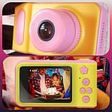 Детский цифровой фотоаппарат Smart Kids Camera V7 Pink, фото 2