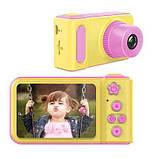Дитячий цифровий фотоапарат Smart Kids Camera V7 Pink, фото 5