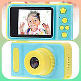 Детский цифровой фотоаппарат Smart Kids Camera V7 Blue, фото 3
