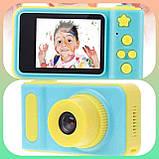 Дитячий цифровий фотоапарат Smart Kids Camera V7 Blue, фото 3