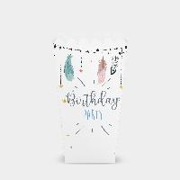 Коробочка для попкорна Бохо С днем рождения