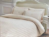 Комплект постільної білизни Tivolyo Home Jacquard New Crem жакардовий бамбук 220-200 см кремовий, фото 1