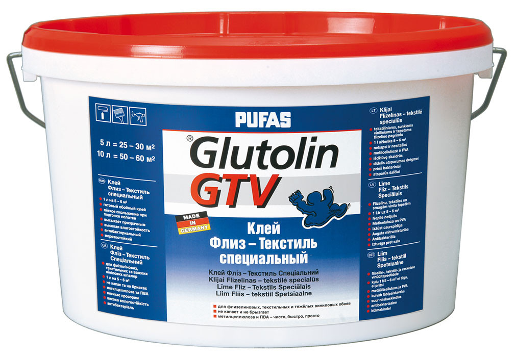Обойный клей Флиз-Текстиль PUFAS GLUTOLIN GTV 5 л  - Элементы декора и отделочные материалы в Киеве
