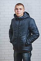 Куртка мужская на синтепоне зима черная, фото 1