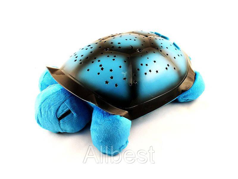 Ночник Проектор Звездного Неба Черепаха Turtle Голубая