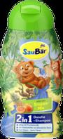 Детский шампунь с фруктовым ароматом Saubar 2 in 1 Dusche + Shampoo Tropenfruchte 250 мл