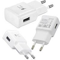 Мережевий зарядний пристрій C-KU EP-TA20EWE 2A Адаптер USB Fast Charge білий