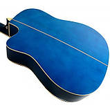 Набір акустична гітара Equites EQ900C BLS 41 + чохол + ремінь, фото 4