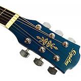 Набір акустична гітара Equites EQ900C BLS 41 + чохол + ремінь, фото 6