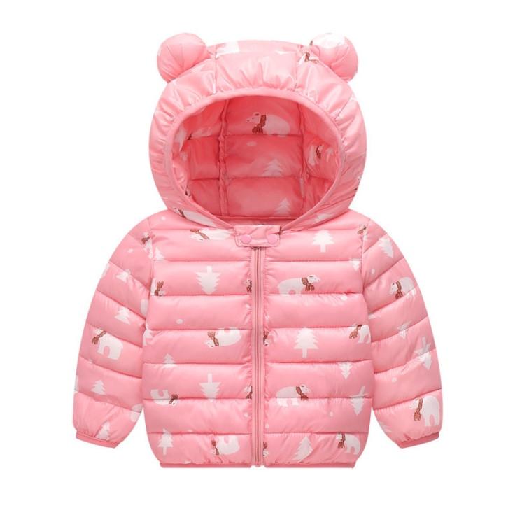 Куртка детская демисезонная с ушками  осень-весна  на 3-4 года  Медведи