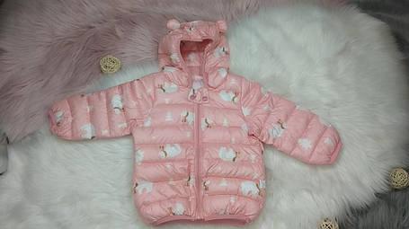 Куртка детская демисезонная с ушками  осень-весна  на 3-4 года  Медведи, фото 2