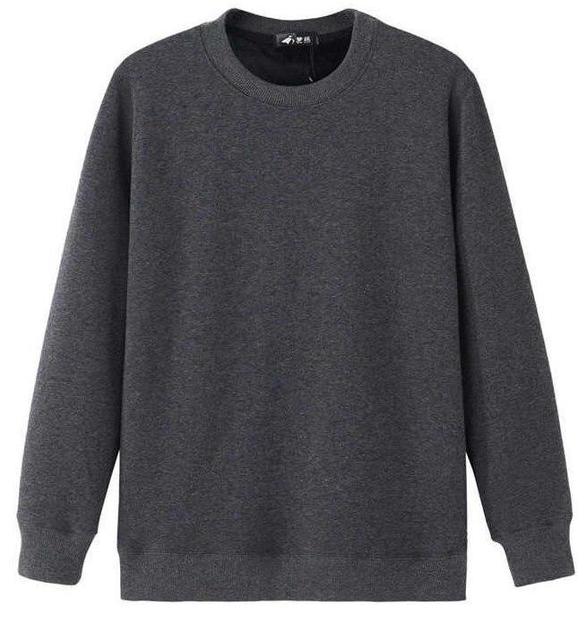 Однотонный свитшот женский размер L, цвет АНТРАЦИТ ( серый меланж)
