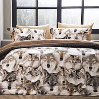 Комплект постельного белья Tivolyo Home Lugan сатин 220-200 см бежевый, фото 1