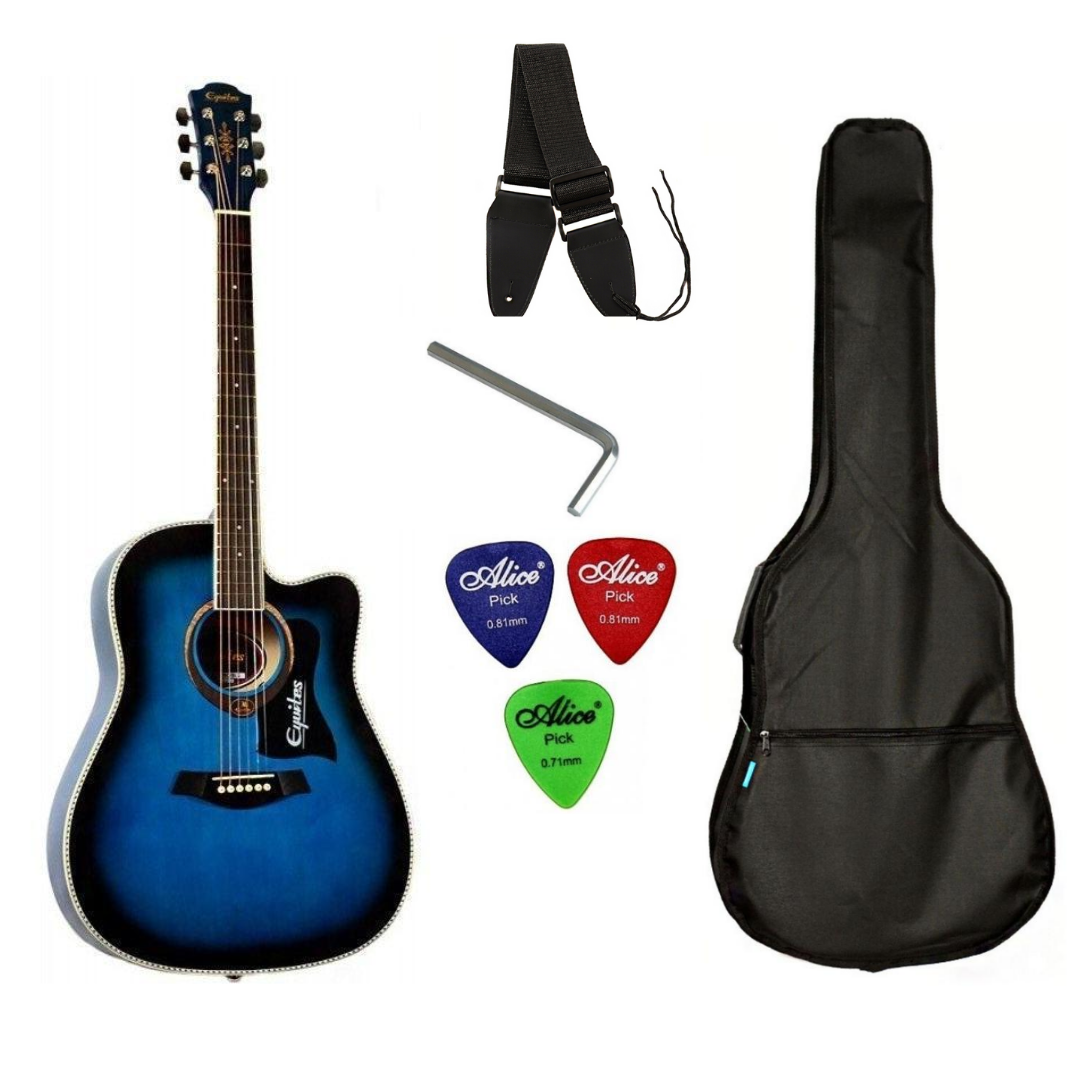 Набір акустична гітара Equites EQ900C BLS 41 + чохол + ремінь