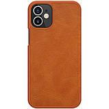 "Nillkin Apple iPhone 12 mini (5.4"") Qin leather Brown case Кожаный Чехол Книжка, фото 2"
