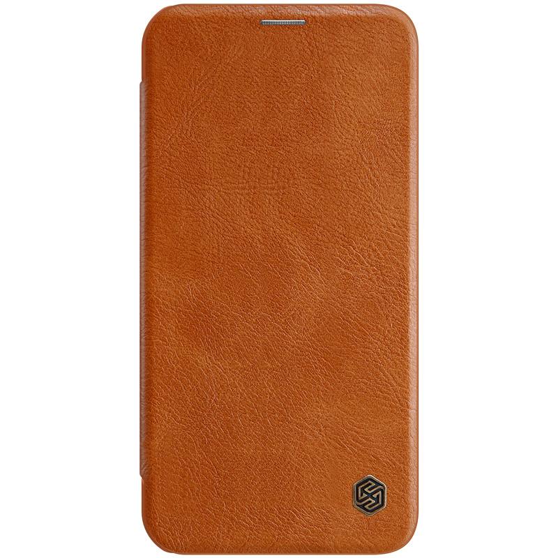 "Nillkin Apple iPhone 12 mini (5.4"") Qin leather Brown case Кожаный Чехол Книжка"