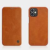 "Nillkin Apple iPhone 12 mini (5.4"") Qin leather Brown case Кожаный Чехол Книжка, фото 4"