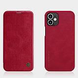 "Nillkin Apple iPhone 12 mini (5.4"") Qin leather Red case Кожаный Чехол Книжка, фото 4"