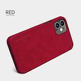 "Nillkin Apple iPhone 12 mini (5.4"") Qin leather Red case Кожаный Чехол Книжка, фото 5"