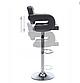"""Барний стілець HOKER VIA з Підставкою для ніг ЧОРНИЙ (120 кг навантаження)""""Барний стілець, фото 5"""
