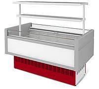 Витрина холодильная низкотемпературная островная ВХНо 1,2  Купец МХМ  (боковины АБС с надстроикой.)