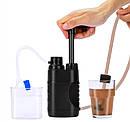 Туристический фильтр мембранный L610 для очистки воды. Портативный карбоновый фильтр черный., фото 2