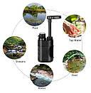 Туристический фильтр мембранный L610 для очистки воды. Портативный карбоновый фильтр черный., фото 4