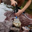 Туристический фильтр мембранный L610 для очистки воды. Портативный карбоновый фильтр черный., фото 8
