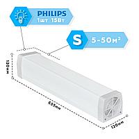 Рециркулятор бактерицидный Аэрэкс Стандарт 15, лампа Philips