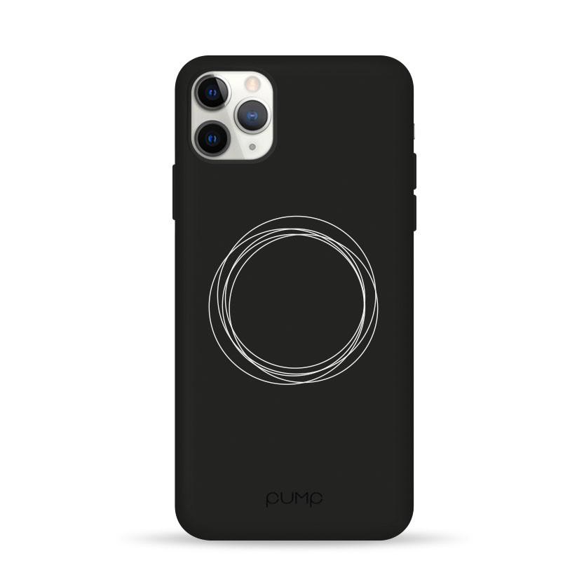 Pump Silicone Minimalistic Case чехол для iPhone 11 Pro Circles on Dark