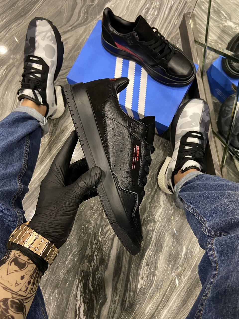 "Мужские кроссовки Adidas Brand With The 3 Stripes ""Black"" (в стиле Адидас)"