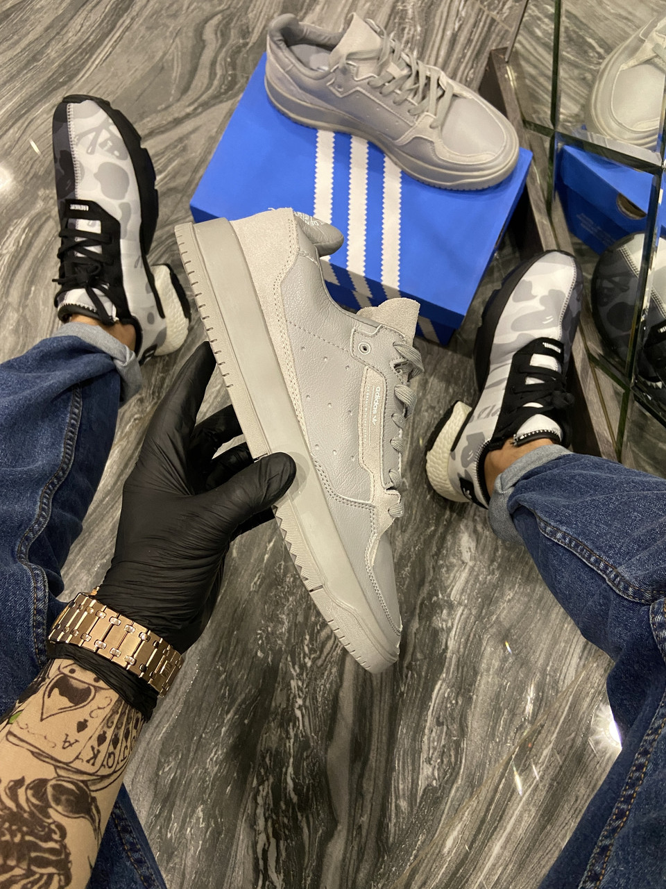 Adidas Brand With The 3 Stripes Grey (Серый)