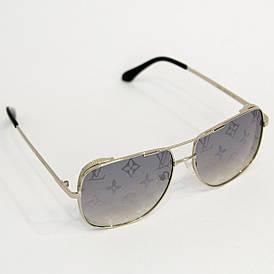 Солнцезащитные женские очки Луи Витон (Louis Vuitton) квадратной формы (арт. 2641) серебряный
