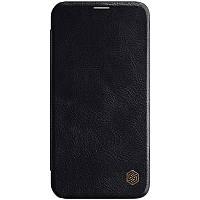 "Nillkin Apple iPhone 12 mini (5.4"") Qin leather Black case Кожаный Чехол Книжка, фото 1"