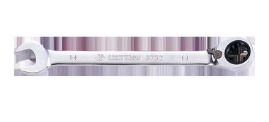 Ключ комбинированный 15мм с  трещоткой и флашком