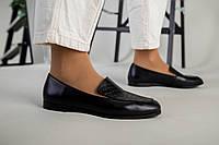 Женские кожаные туфли без каблука с тиснением Питон