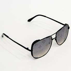 Сонцезахисні окуляри жіночі Луї Вітон (Louis Vuitton) квадратної форми (арт. 2641) чорний