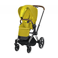 Прогулочная коляска Cybex Priam Chrome Brown Mustard Yellow
