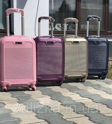 Пластиковый чемодан маленький темно синий для ручной клади, фото 2