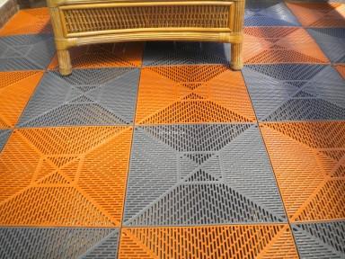"""Пластиковые модульные покрытия для пола """"Сквер"""", размер 378х378х11мм"""