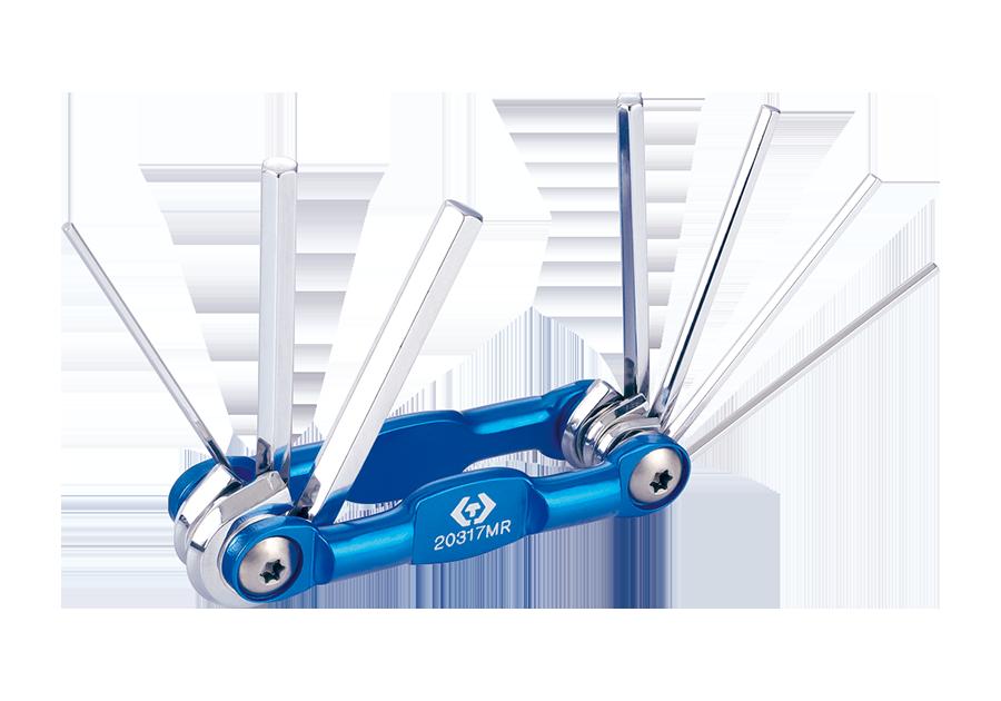 Алюминиевый складной шестигранный ключ 1.5-6 мм, 7 предметов