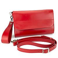 Клатч женский кожаный на магнитах Handycover HC0020 красный