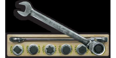 DEMO набор ключей (ключ+ подставка из дерева)