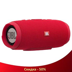 Портативна колонка JBL CHARGE 3+ - бездротова водонепроникна Bluetooth колонка Червона (Репліка)