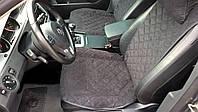 Накидки на сиденья Черные Широкие. Полный комплект из алькантары, фото 1
