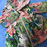Пальто модное для девочки демисезонное на замке с капюшоном., фото 3