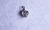 Кулон сердце фирмы Xuping (Rhodium color 2), фото 3