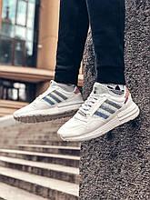 Мужские кроссовки Commonwealth x adidas Consortium ZX 500 в стиле адидас коммонвелс белые (Реплика ААА+)