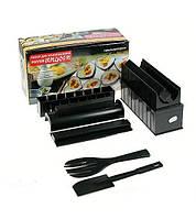 Набор для приготовления суши и роллов Мидори (Black) | Суши машина, прибор для роллов